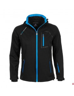 blouson-softshell-homme-peak-mountain-cimaleak-noir-bleu  Doublure: Sac de poche devant en tricot brossé  100% polyester 140g